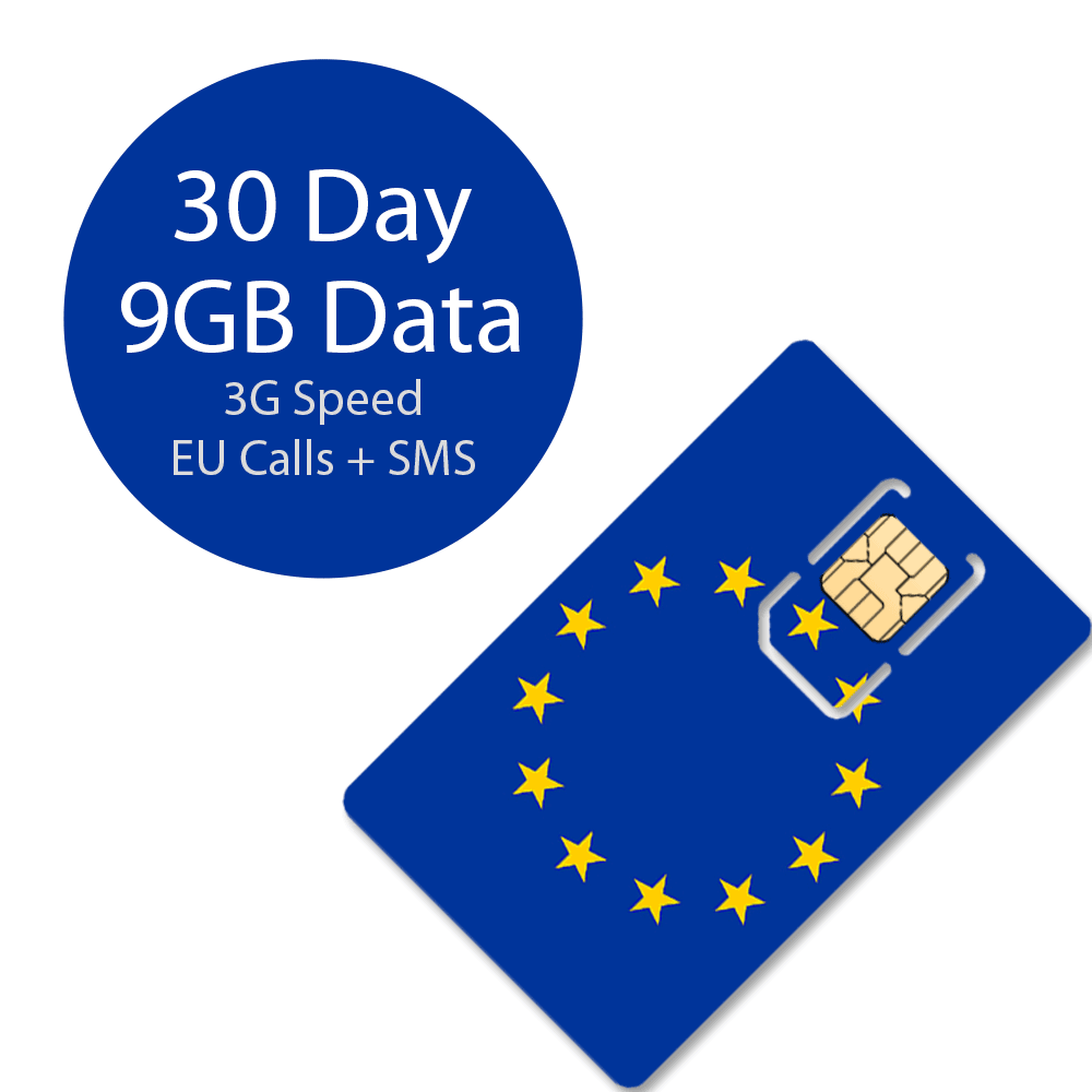 30 days 3g call data europe sim card - Prepaid Sim Card Europe Data