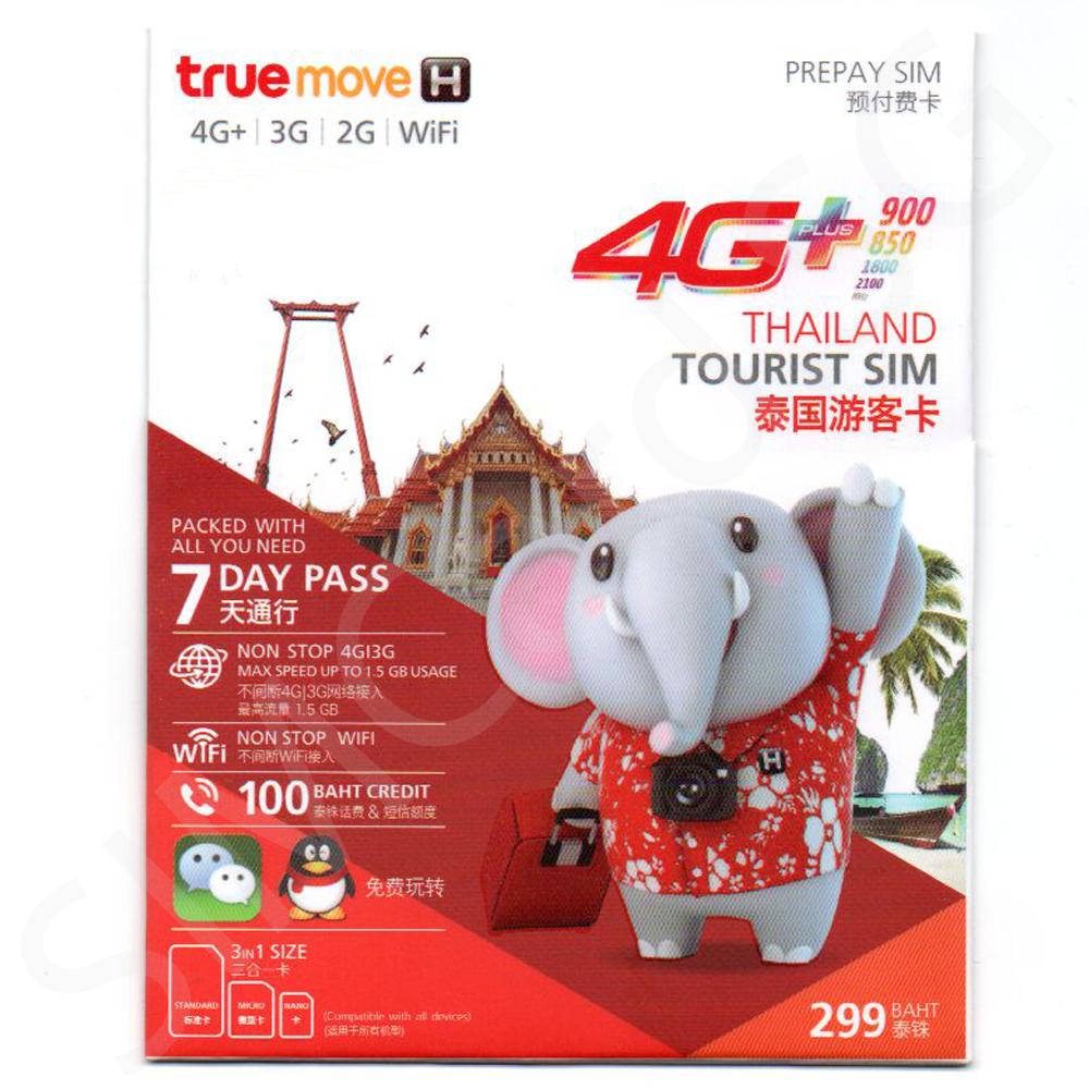 TrueMove H Tourist Inter SIM (299 Baht)